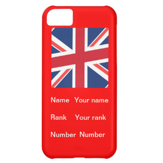 Customisable name, Rank and number iPhone 5C Covers