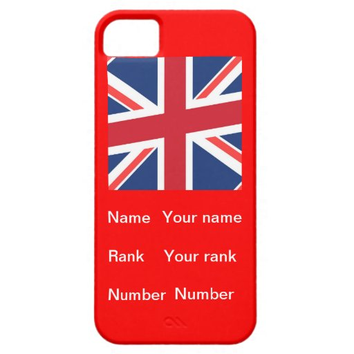 Customisable name, Rank and number iPhone 5 Covers