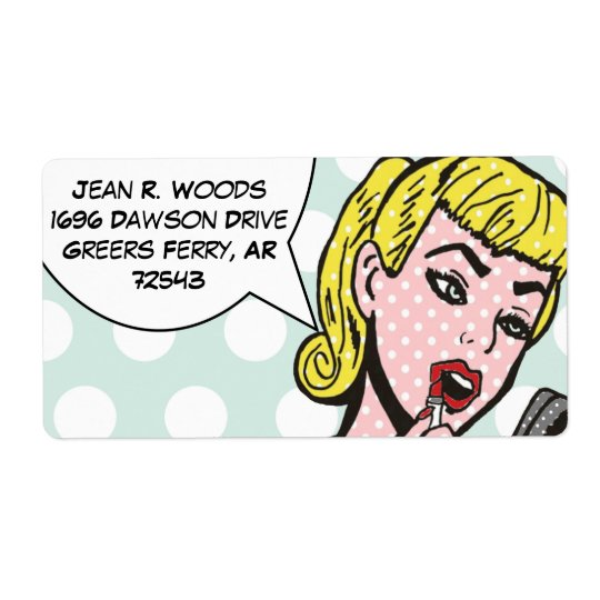 Customisable Natural Beauty Comic Book Labels