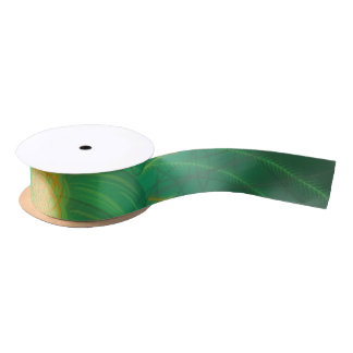 Customisable Nature (Psychedelic spirograph) Satin Ribbon