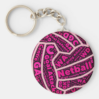 Customisable Netball Positions Ball Design Key Ring
