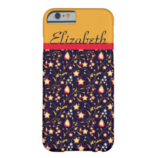 Customisable Night Stars Floral Pattern Barely There iPhone 6 Case