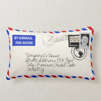 Customisable Photo Upload Airmail Envelope Pillow