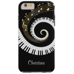 Customisable Piano Keys and Gold Music Notes