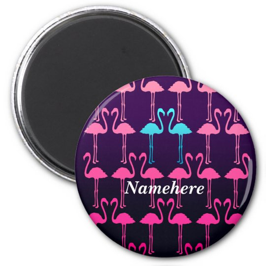 Customisable: Pink flamingo Magnet