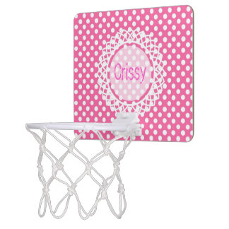 Customisable polka-Dot Monogram Hoop