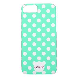 Customisable Polka Dots Mint iPhone 7 Case