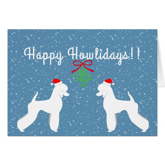 Customisable Poodle Holiday Card (German Cut)