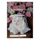 Customisable Pretty Cat Female Graduation Card
