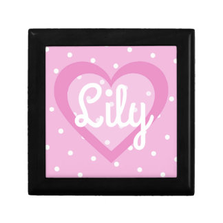 Customisable Pretty Pink Heart Jewellery/Gift Box