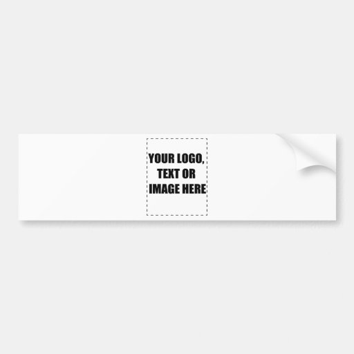 Customisable Products Bumper Sticker