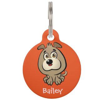 Customisable Puppy Cartoon Pet Tag