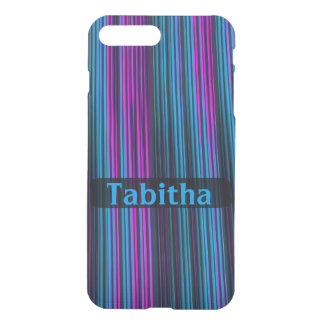 Customisable Purple and Blue Streaks iPhone 7 Plus Case