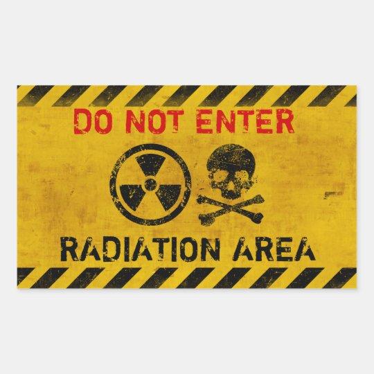 Customisable Radiation Hazard Sign Rectangular Sticker