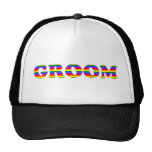 Customisable Rainbow Bride and Groom Tees, Gifts Mesh Hat