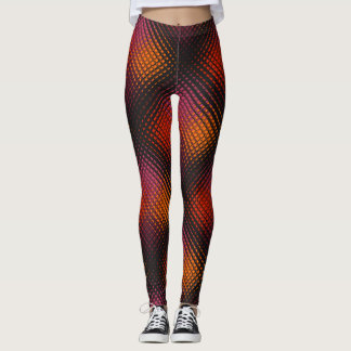 Customisable rainbow coloured tiled leggings