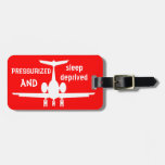 Customisable Red Aeroplane Luggage Identity Tag