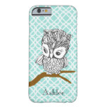 Customisable Retro Owl iPhone 6 case Barely There iPhone 6 Case