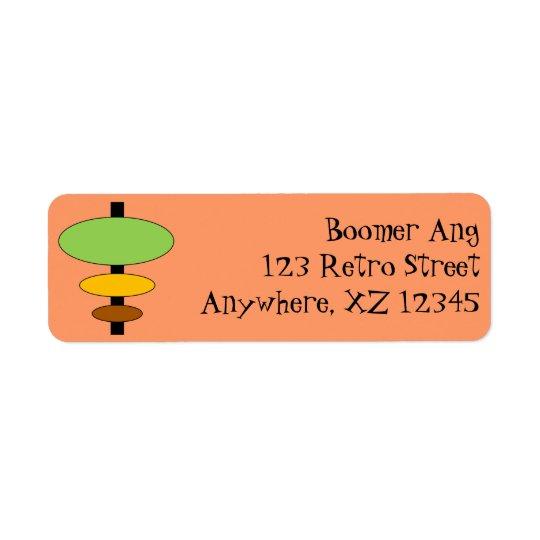 Customisable Retro Return Address Label