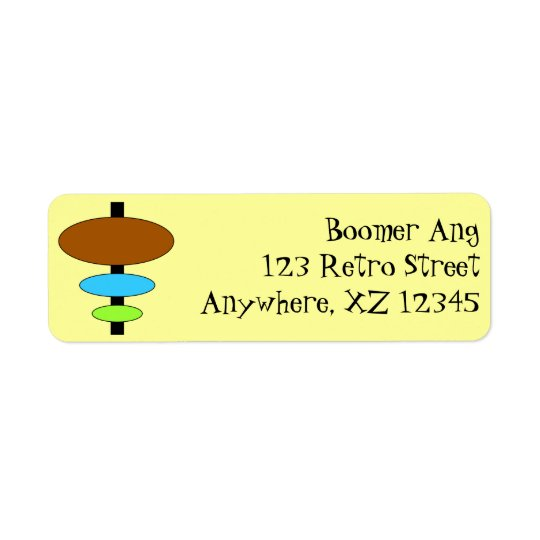 Customisable Retro Return Address Label