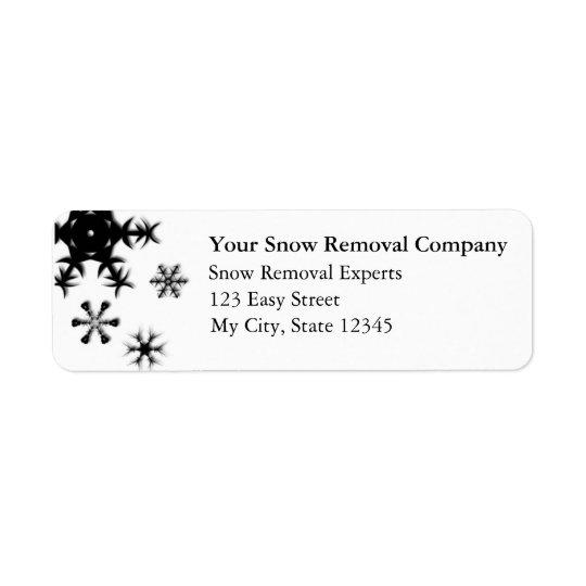 Customisable Return Address Labels - Snow Removal