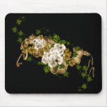 Customisable Roses Gold and Clover Mouse Pad