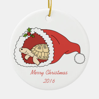Customisable Russian Tortoise Ornament