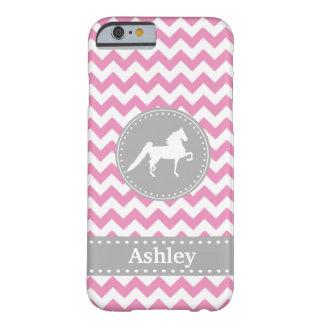 Customisable Saddlebred Pink Chevron iPhone 6 case