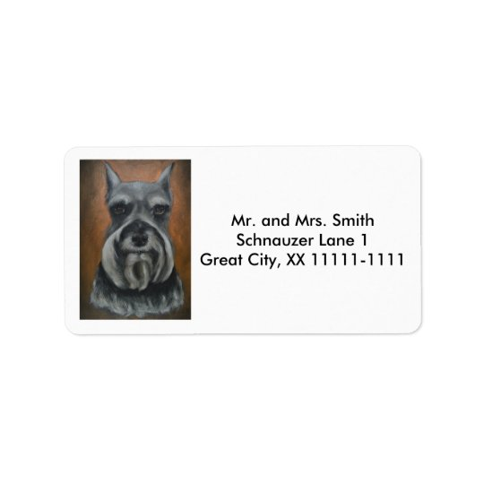 Customisable Schnauzer Address Labels No. 4