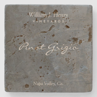 Customisable Slate Travertine Wine Coasters