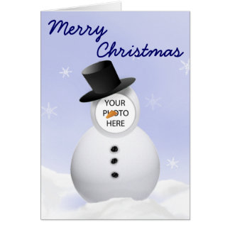 Customisable Snowman Greeting Card
