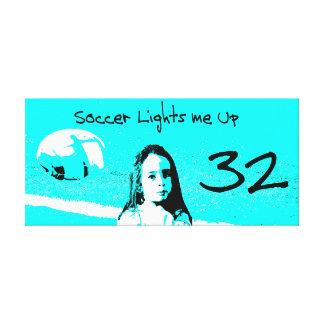 "Customisable ""Soccer Lights Me Up"" Artwork Canvas Print"
