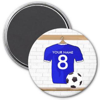 Customisable Soccer Shirt (blue) Magnet