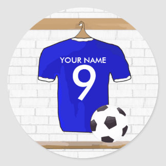 Customisable Soccer Shirt Party award stickers