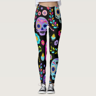 customisable sugar pop skull leggings