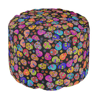Customisable Sugar Skulls Pouf