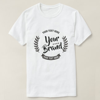 Customisable T-shirt, Create Your Own Brand T-Shirt