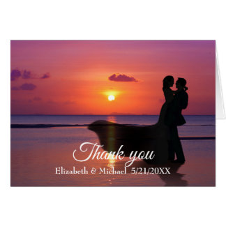 Customisable Thank You card Wedding Invitation