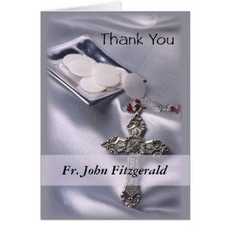 Customisable Thank You Ordination Anniversary Gift Card