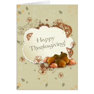 Customisable Thanksgiving Card with Acorns