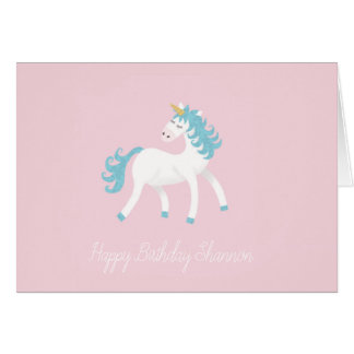Customisable Unicorn birthday Card