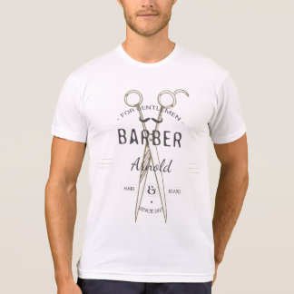 Customisable vintage barberman t-shirt design