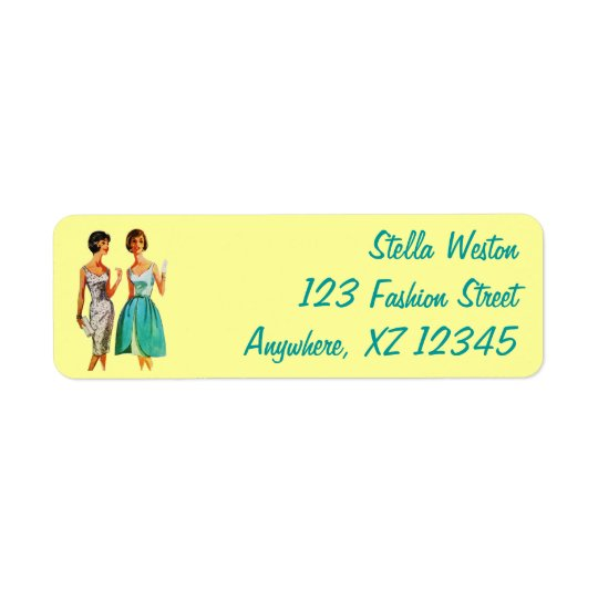 Customisable Vintage Fashion Return Address Label