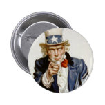 Customisable Vintage Uncle  Sam Pin