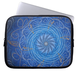 Customisable Water (Psychedelic spirograph) Laptop Sleeve