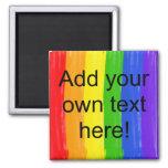 Customisable Watercolor Rainbow Fridge Magnets