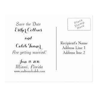 Customisable Wedding Save the Date Postcard
