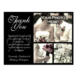 Customisable Wedding Thank You Card 3 Photos Post Cards