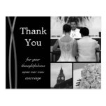 Customisable Wedding Thank You Card Photo Pictures