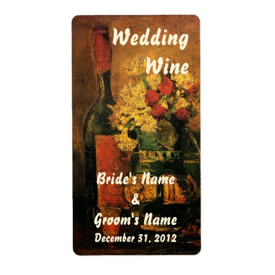 Customisable Wedding Wine Label Shipping Label